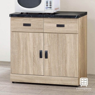 漢妮Hampton瑪雅原切橡木2.7尺碗盤櫃-81x43x89.2cm