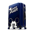 Disney 米奇奇幻之旅 28吋PC鏡面拉鍊行李箱-藍色