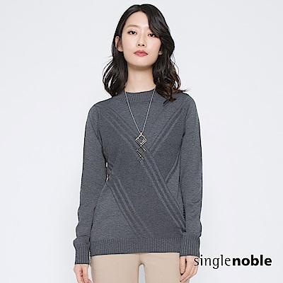 獨身貴族 交錯時空拼接織紋排釦針織衫(2色)