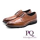 PQ 牛津雕花壓紋輕量皮鞋 - 棕(另有黑)