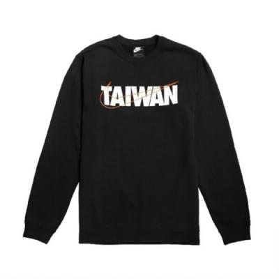 NIKE M NSW TAIWAN LS CREW FLEECE 男 長袖上衣-黑-CU1604010
