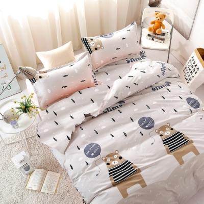 3-HO 雪紡棉 單人床包/枕套 二件組 熊出沒