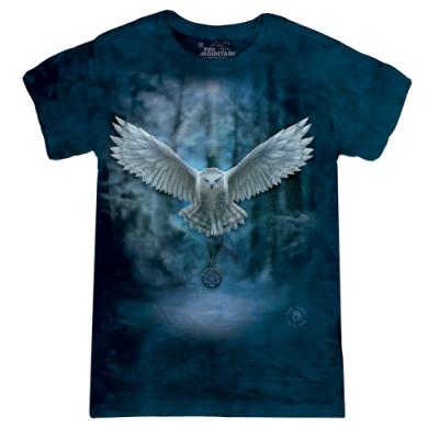 摩達客-美國進口The Mountain 喚之貓頭鷹 短袖女版T恤