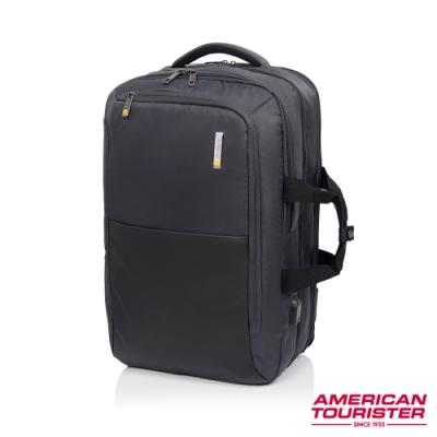 AT美國旅行者 Segno多功能兩用筆電後背包17吋(灰)