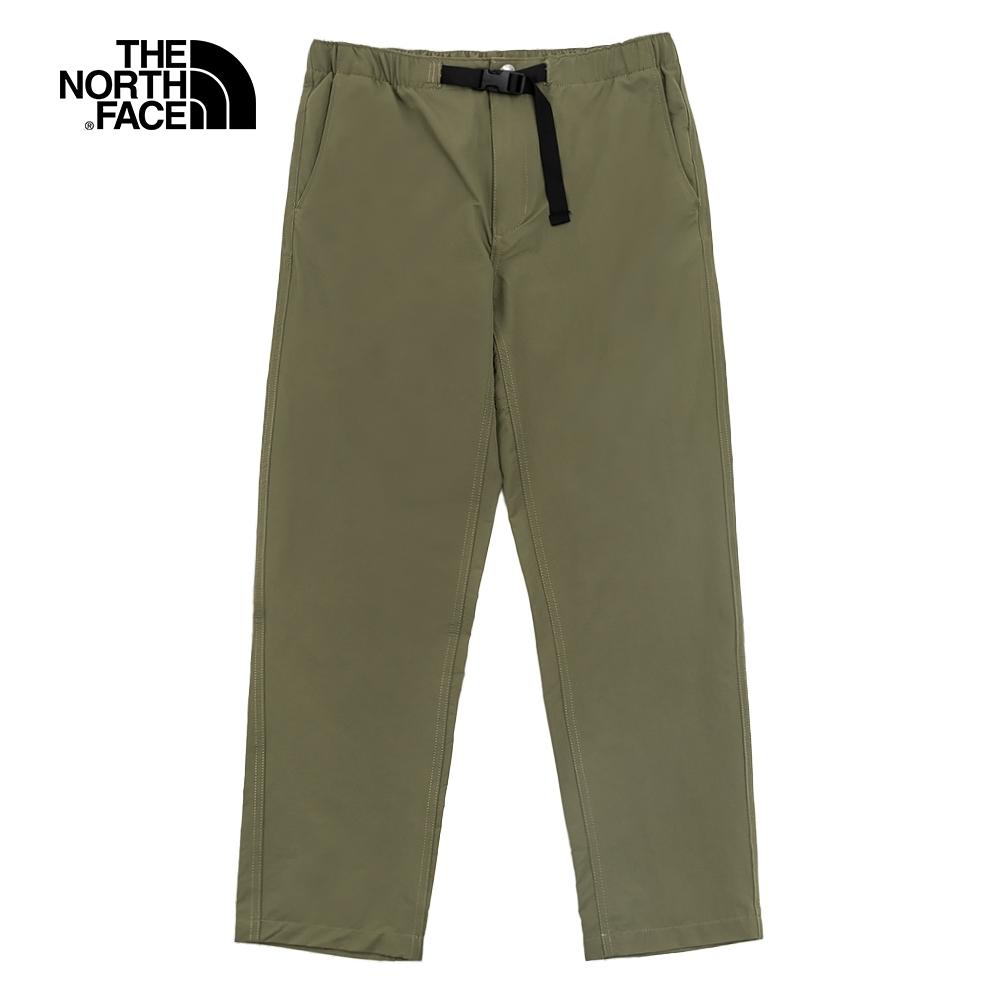 The North Face北面男款綠色防潑水休閒褲 4U8T7D6