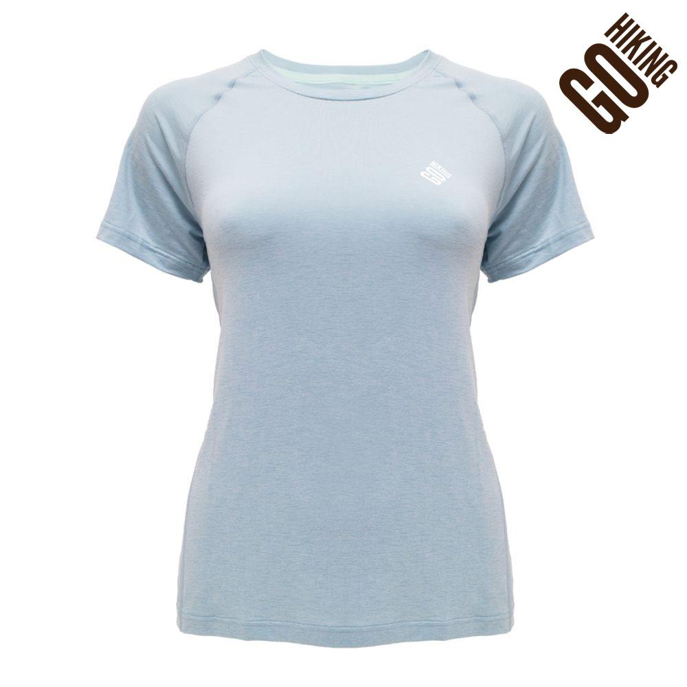 【GOHIKING】女剪接排汗T恤