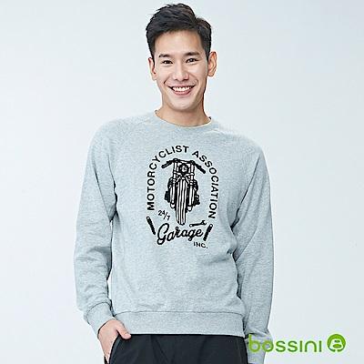 bossini男裝-圓領長袖運動衫01淺灰