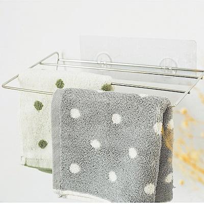 完美主義 毛巾架/抹布架/三層/304不鏽鋼/霧面無痕貼