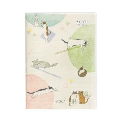 MIDORI POCKET DIARY 2020手帳(月單週)B6-小貓咪