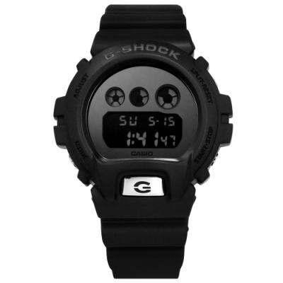 G-SHOCK CASIO卡西歐 霧黑 運動計時 防水 電子橡膠手錶-銀x黑/48mm