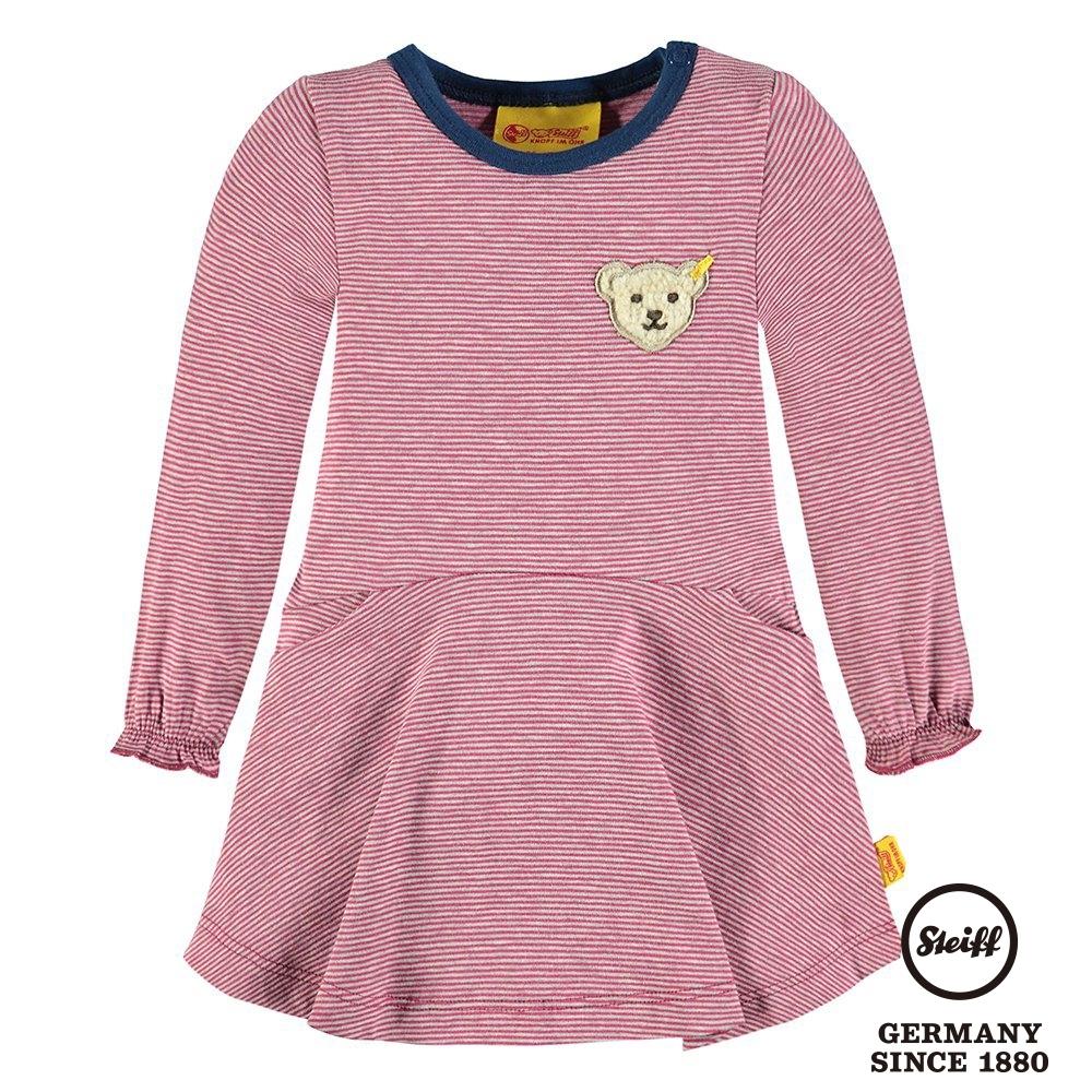 STEIFF德國精品童裝  長袖條紋熊熊連身裙(洋裝)