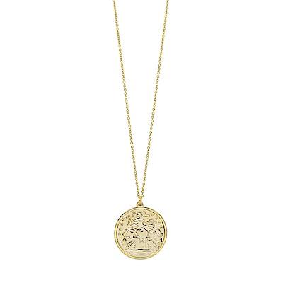 Dorsey 美國時尚品牌 神秘圖騰圓牌金色項鍊