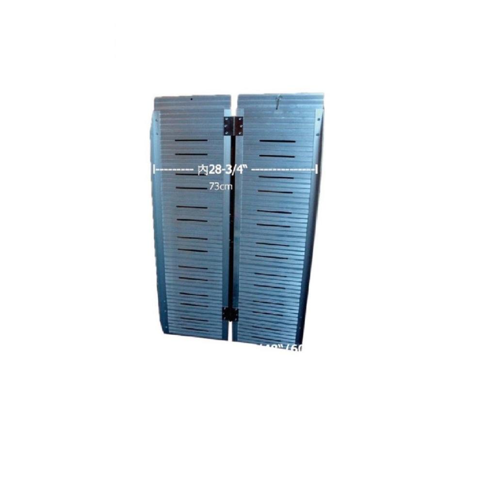海夫 建鵬 JP-857-5-153 攜帶式兩片折合 鋁合金 附提把斜坡板(長153cm)