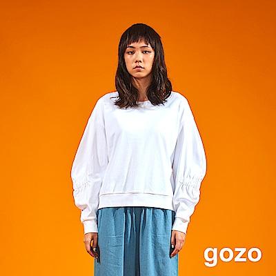 gozo 澎澎鬆緊袖造型衛衣(二色)