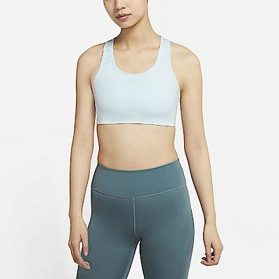 Nike 運動內衣 Icon Sports Bra 女款 中度支撐 健身 重訓 挖背 一片式襯墊 藍 白 BV3637-474