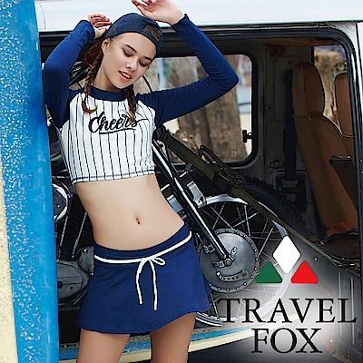 TRAVEL FOX 旅狐 大女短版衝浪裝三件式泳衣