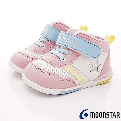 日本月星頂級童鞋 HI系列2E護踝款 NI54粉白(寶寶段)