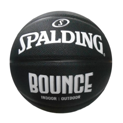 SPALDING 斯伯丁 NBA Bounce 合成皮 7號籃球 黑白
