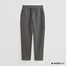 Hang Ten -女裝-素面腰部鬆緊抽繩休閒長褲-灰