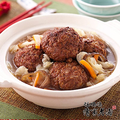 諶媽媽眷村菜 紅燒獅子頭家庭包 2000 g/組
