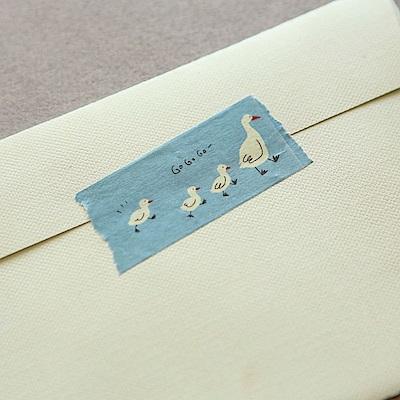 Dailylike 25mm單捲紙膠帶-01 小鴨