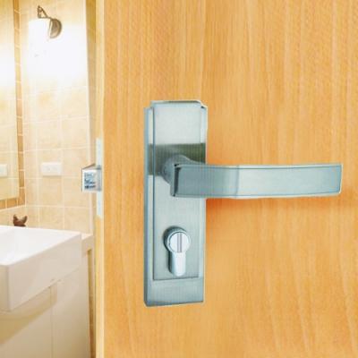 P607 守門員系列 浴室鎖 水平把手鎖 銀色 60mm 下座水平鎖 浴廁鎖 管型板手鎖