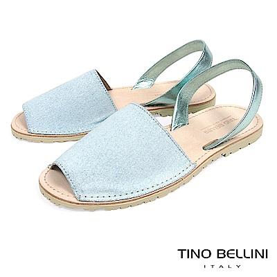 Tino Bellini 西班牙進口睛漾亮彩馬卡龍魚口涼鞋 _ 粉藍