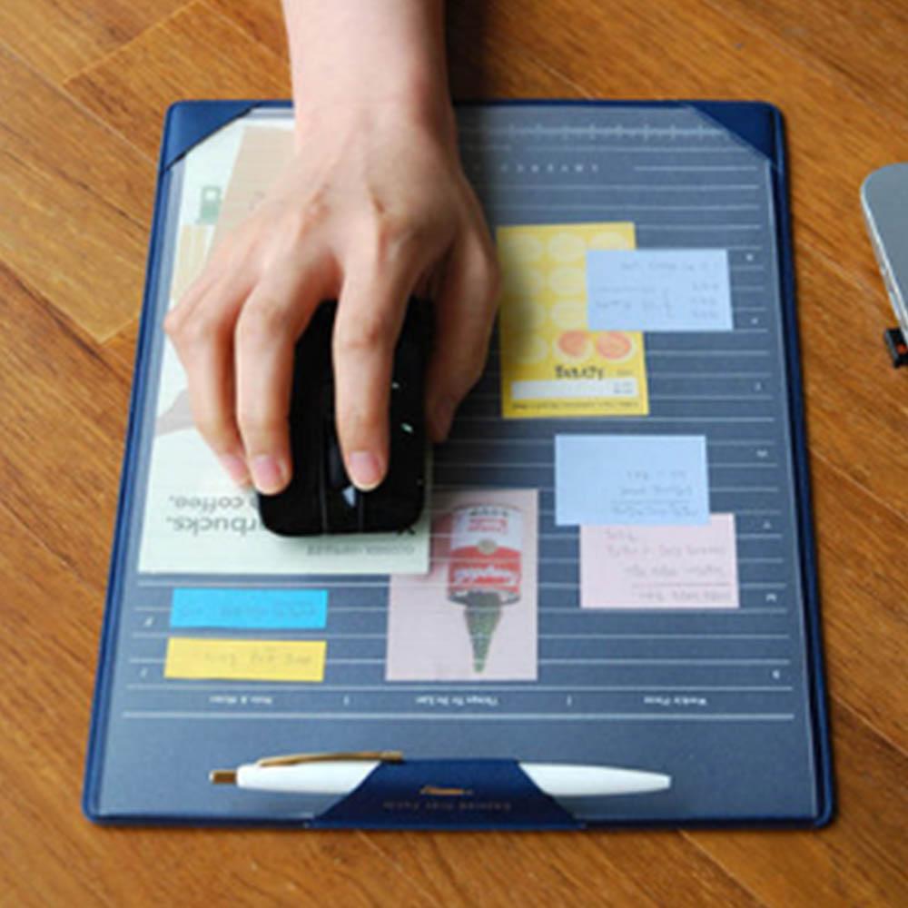 韓版簡約分層計畫板滑鼠墊 藍 EB-E13-2