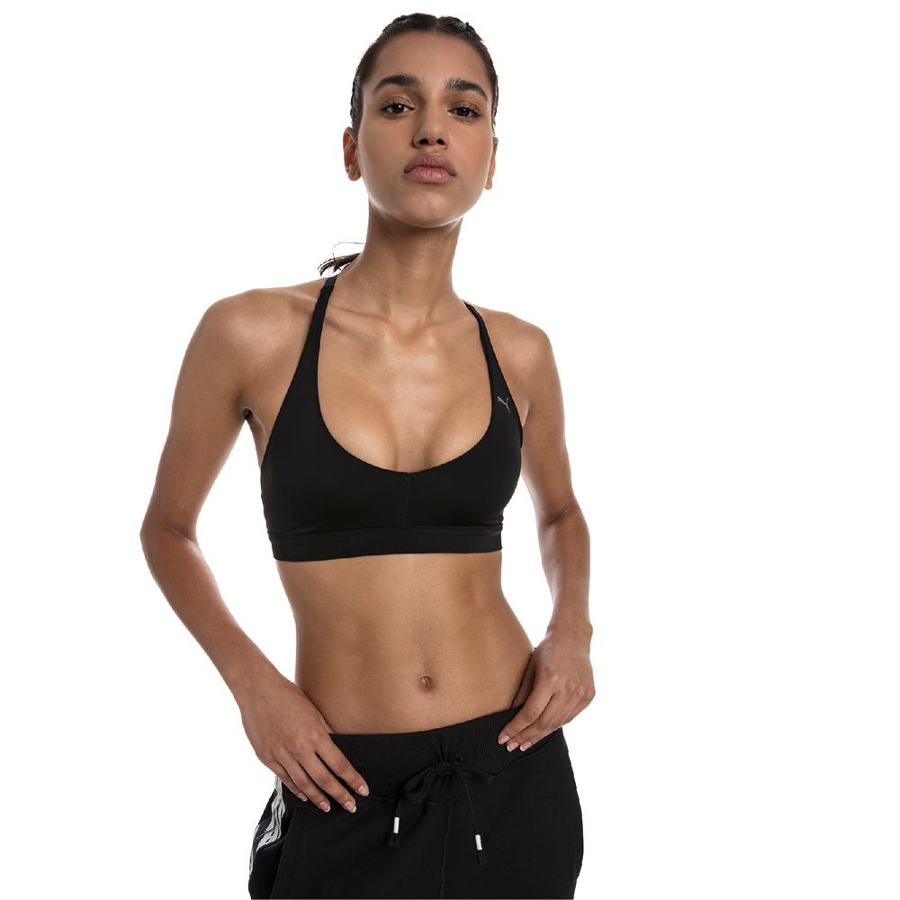 PUMA-女性訓練系列SpotLite低衝擊運動內衣-黑色-歐規