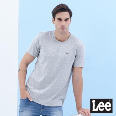 Lee 短T 小Logo織標短袖圓領T 男款 灰色