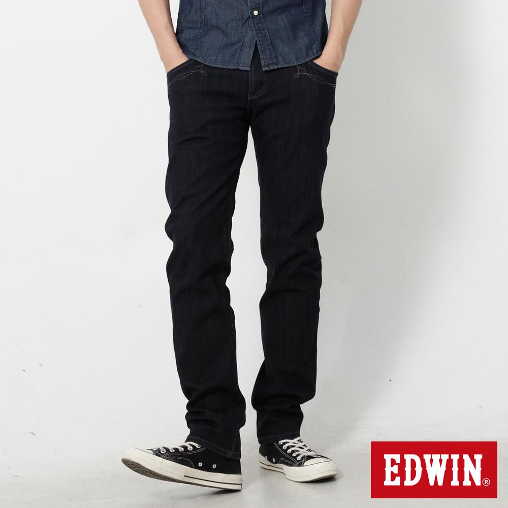 【EDWIN】映像圖騰 B.T W.F窄直筒保溫褲-男款(原藍色)