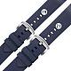 Watchband / 19.21 mm / 各品牌通用 快拆錶耳 輕盈舒適 矽膠錶帶 藍色 product thumbnail 1