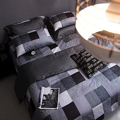OLIVIA   克里斯  雙人全鋪棉床包冬夏兩用被套四件組 歐枕