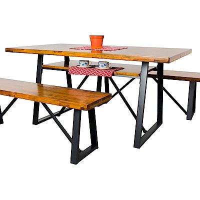 AS-賽拉集層柚木5尺餐桌-150x90x75cm