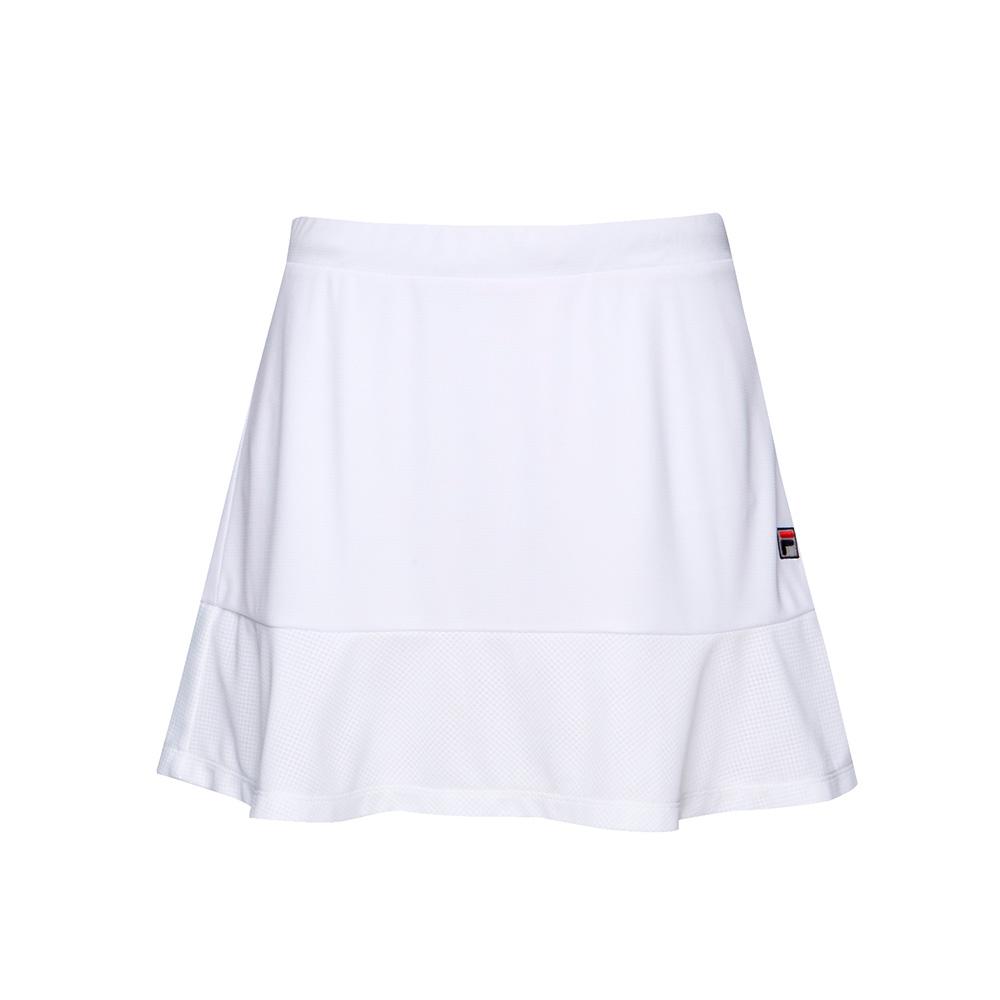 FILA 女款抗UV吸濕排汗短裙-白 5SKT-1008-WT
