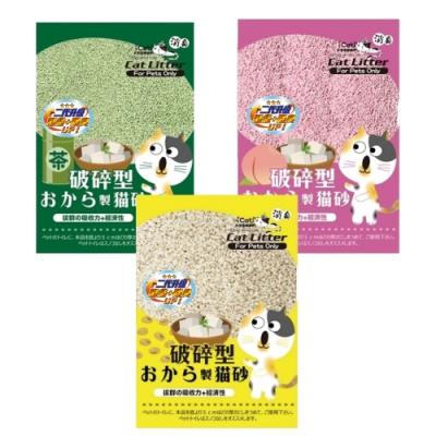 6包組-【iCat 寵喵樂】破碎型豆腐砂 6L