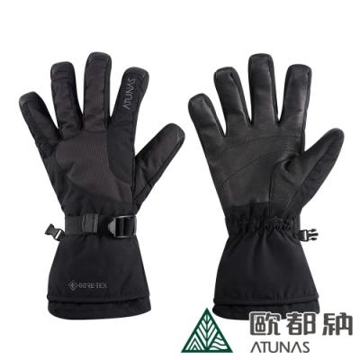 【ATUNAS 歐都納】中性款GORE-TEX科技保溫棉防水手套A1AGAA01N黑