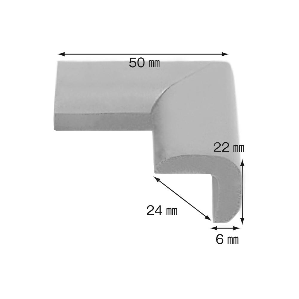 【日本CAR-BOY】尖角防護軟墊(細)(淺灰)(幫危險尖角加上柔軟防護)