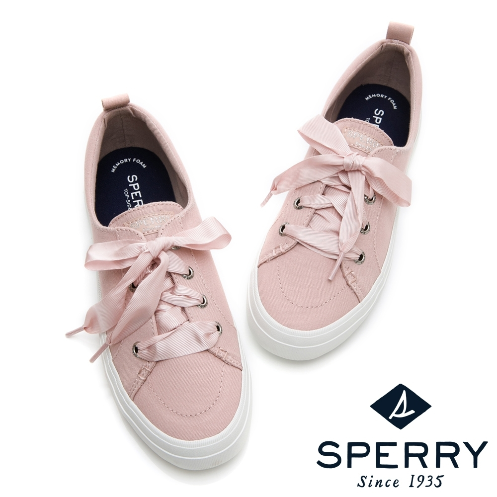 SPERRY 經典粉彩系緞帶帆布鞋(女)-粉