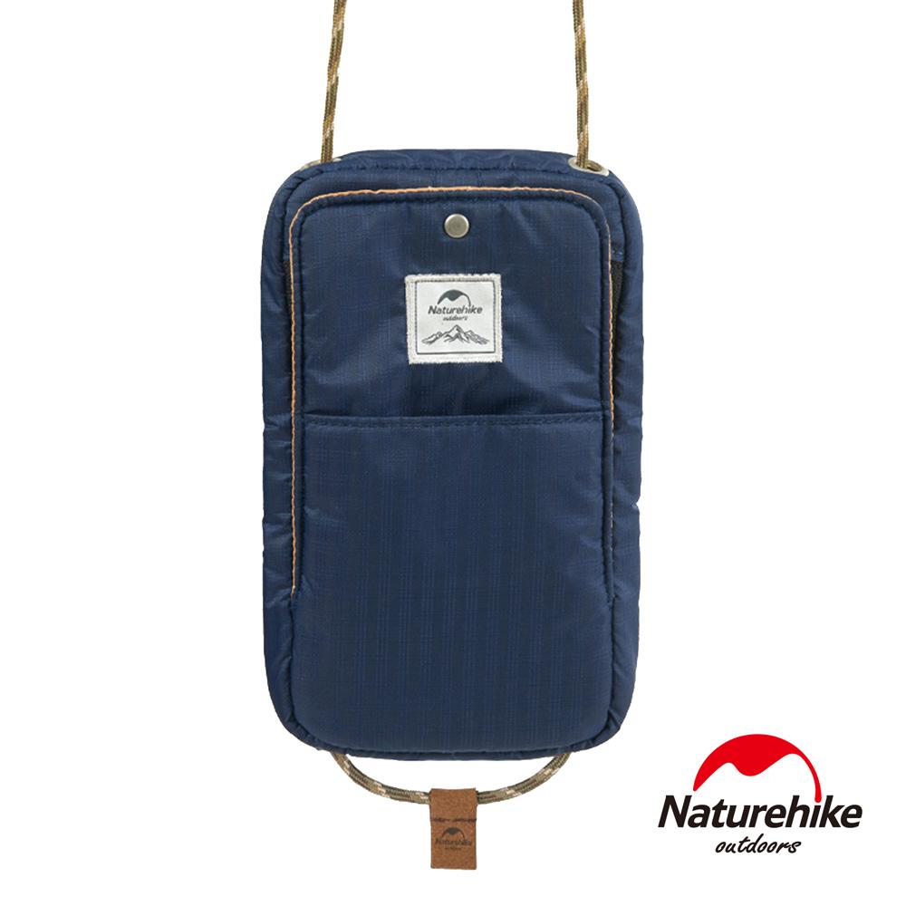 Naturehike 頸掛式防水旅行護照證件收納包 藏青-急