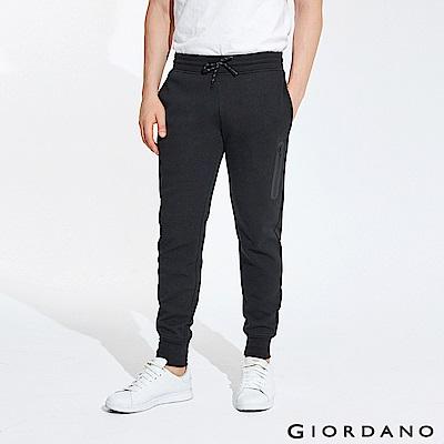 GIORDANO 男裝雙面空氣層運動口袋休閒束口褲-19 標誌黑 @ Y!購物