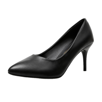 KEITH-WILL時尚鞋館 時尚穿搭隨性自在細跟鞋-黑