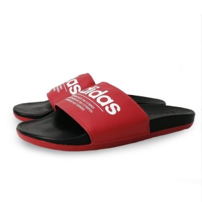 ADIDAS 運動拖鞋 休閒 男鞋 紅 FX4288 Adilette Comfort