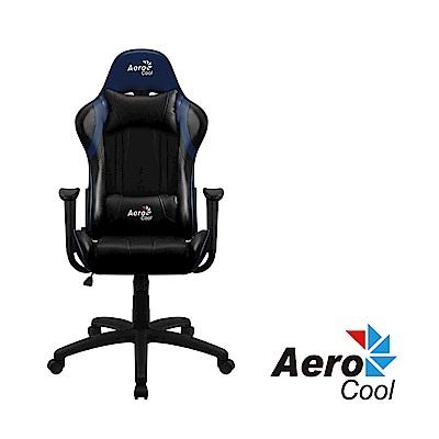 【Aerocool 愛樂酷 】AC100 AIR系列 競速超跑電競賽車椅(黑藍色)