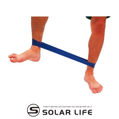 瑜珈伸展健身訓練環狀阻力帶藍色.韻律有氧拉筋運動伸展帶乳膠彈力拉力帶體能肌耐力訓練