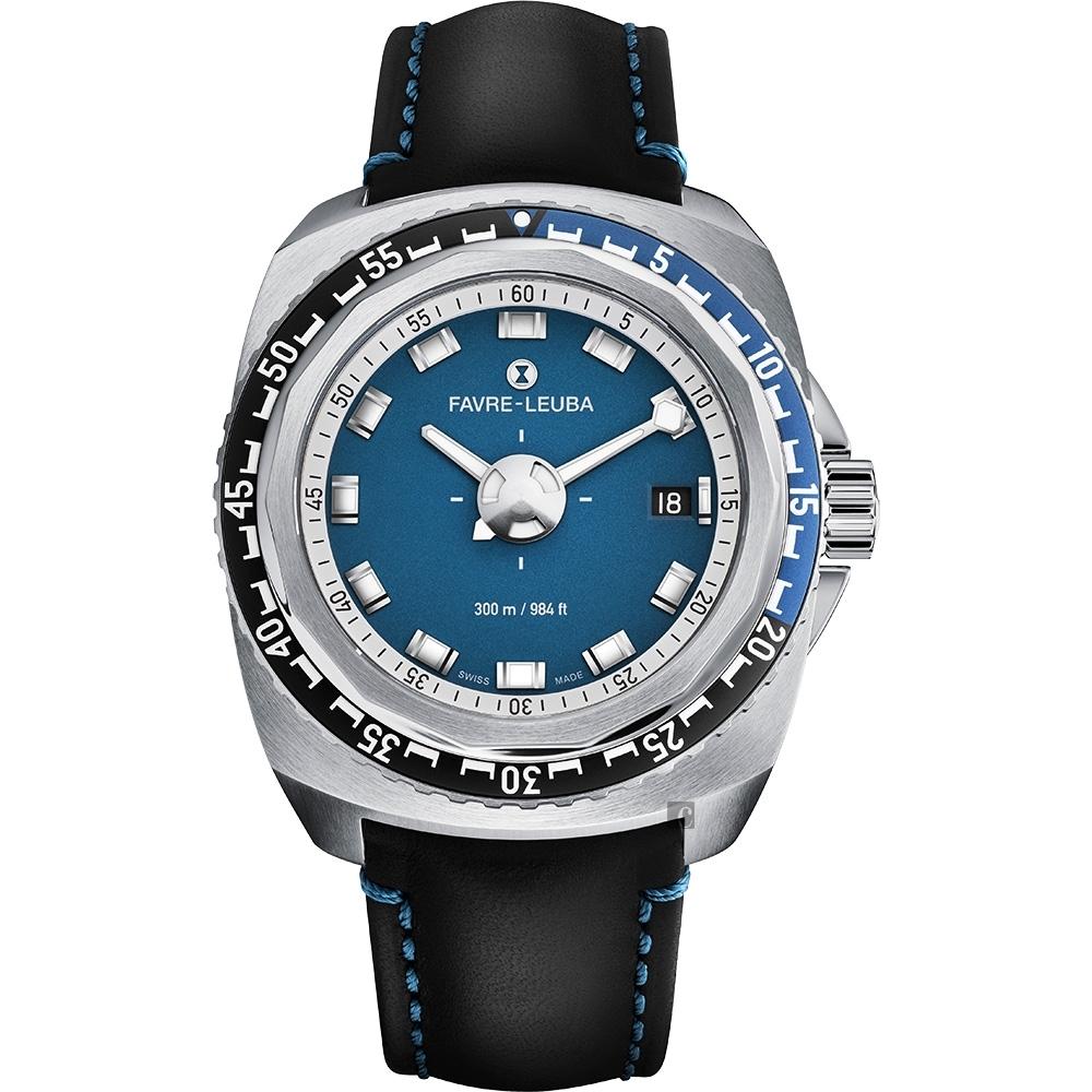 FAVRE-LEUBA 域峰 RAIDER Deep Blue 300米潛水機械錶-41mm