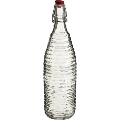《Premier》扣式密封玻璃水瓶(螺紋1L)