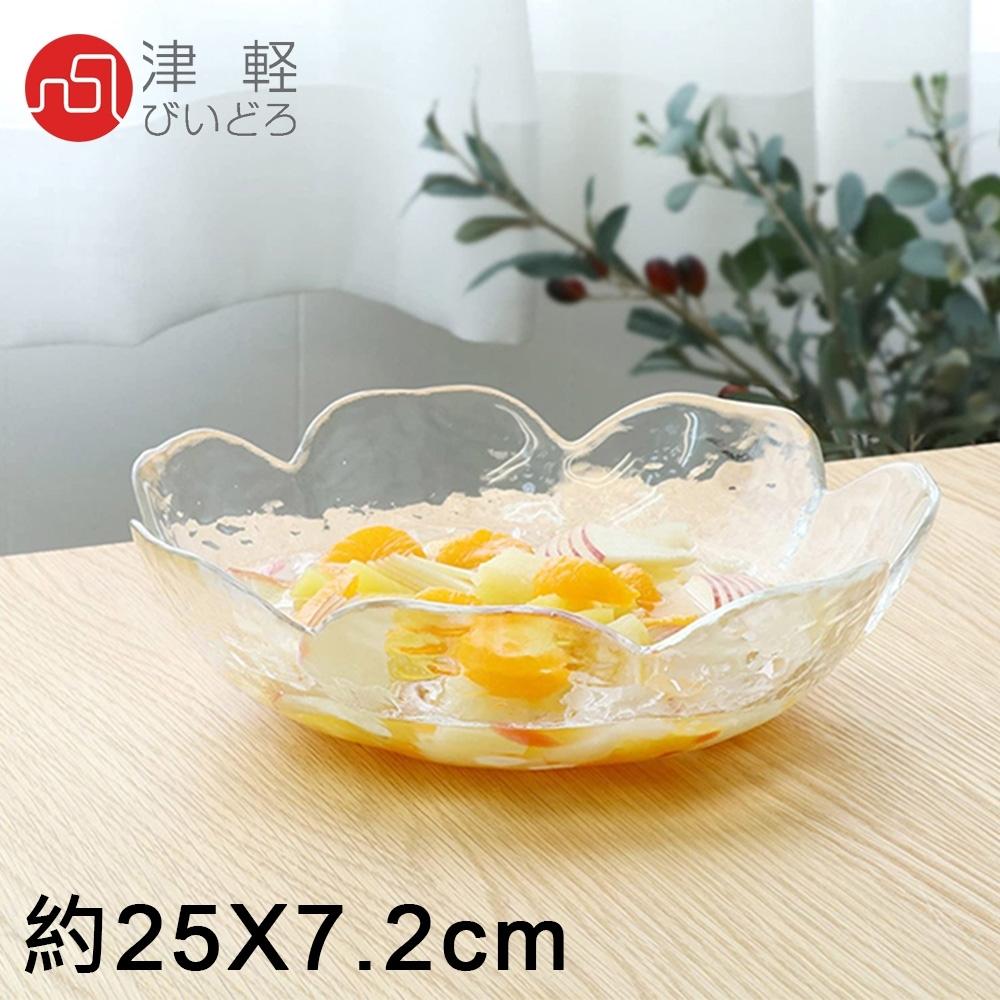 ADERIA 日本進口津輕系列手作花瓣玻璃碗