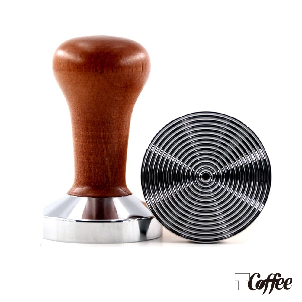 TCoffee MILA-檀木木紋咖啡填壓器58mm