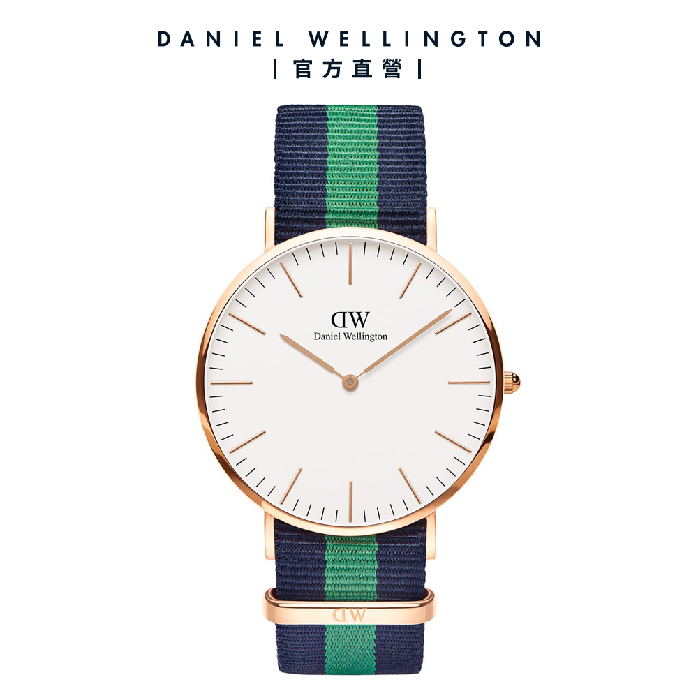 【Daniel Wellington】官方直營 Classic Warwick 40mm藍綠織紋錶 DW手錶